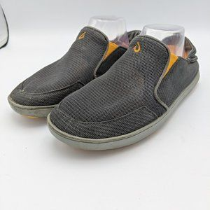 OluKai Nohea Loafers Shoes Slip On Gray Mesh Mens